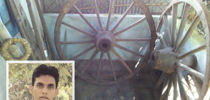 কছিমউদ্দিন লোকশিল্প সংগ্রহশালায় দুর্লভ গরুর গাড়ির চাকা সংগ্রহ