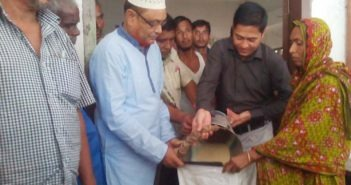 Relief for Flood Victims at Bazra, Ulipur, Kurigram.