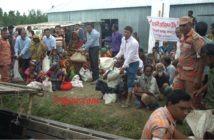 Relief for Flood Victims at Buraburi Ulipur, Kurigram.