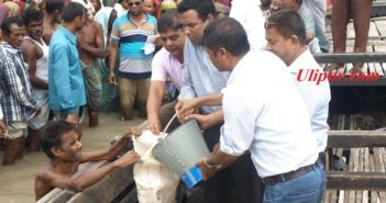 Relief for Flood Victims at Hatia, Ulipur, Kurigram.