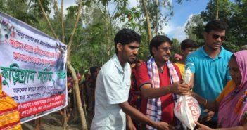 Relief Distribution by Kurigram Samity Dhaka (2017)