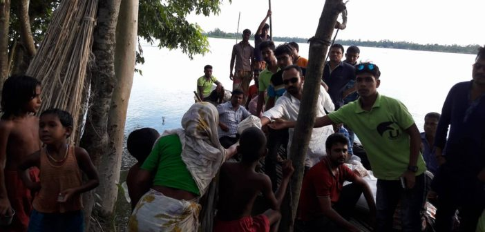 Relief for Flood Victims by Ulipur.com at Ulipur Upazila Kurigram (2017)